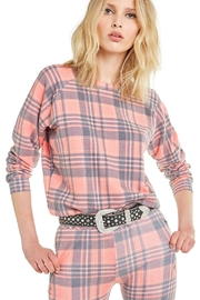 Wildfox Pink Plaid Pullover - Product Mini Image