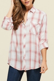 Staccato Pink Plaid Top - Product Mini Image