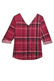 French Laundry Pink Plaid Top - Product Mini Image