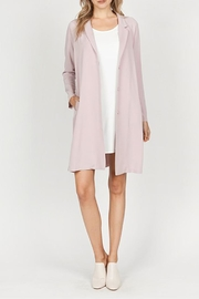 The Vintage Valet Pink Pleated Blazer - Side cropped