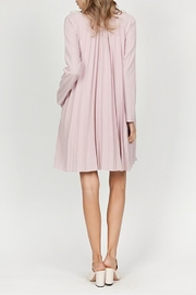 The Vintage Valet Pink Pleated Blazer - Front full body