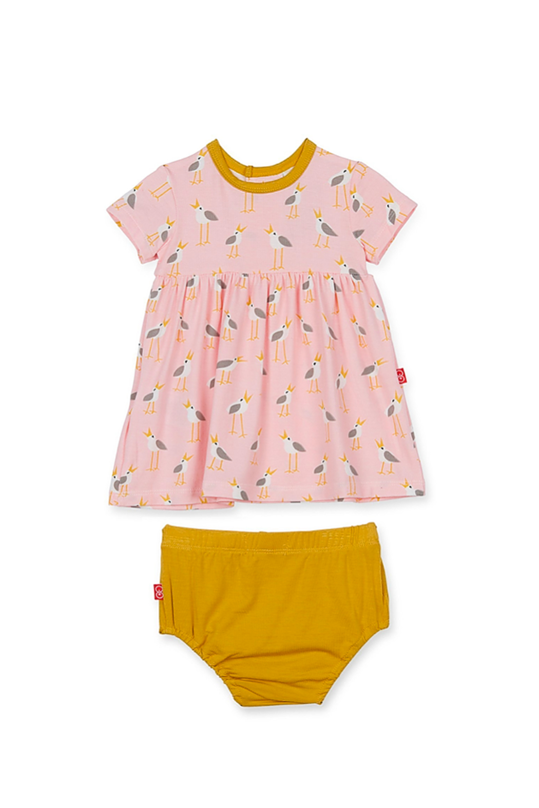 Magnetic Me Pink Plovers Dress and Diaper Cover - Main Image