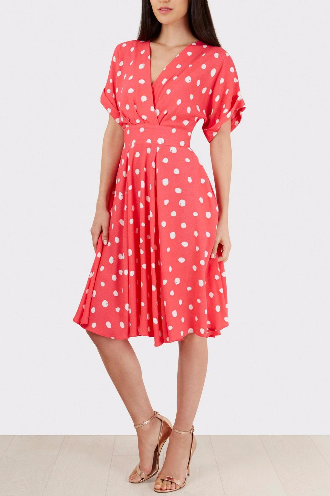 Pink Polka Dress - Back Cropped Image