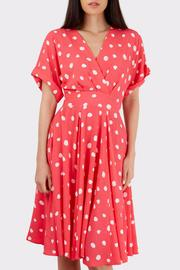 Pink Polka Dress - Front cropped