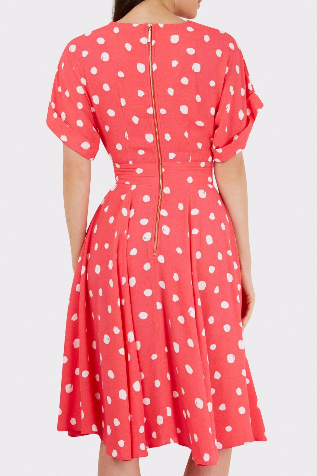 Pink Polka Dress - Front Full Image