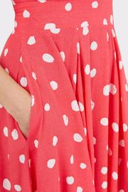 Pink Polka Dress - Side cropped