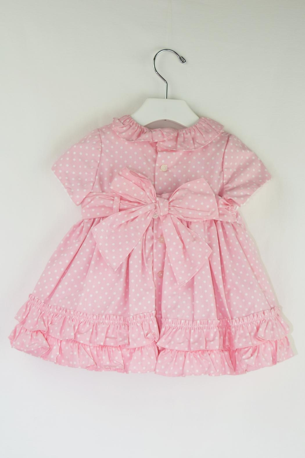 Dolce Petit Pink Polkadots Dress - Front Full Image