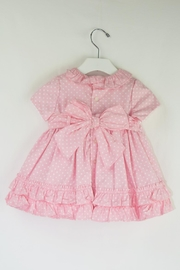 Dolce Petit Pink Polkadots Dress - Front full body