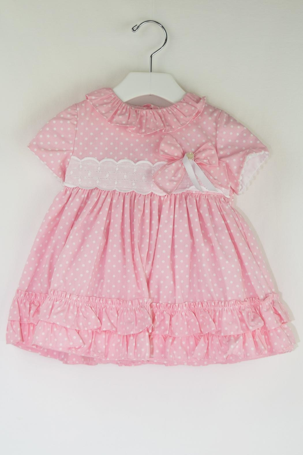 Dolce Petit Pink Polkadots Dress - Front Cropped Image
