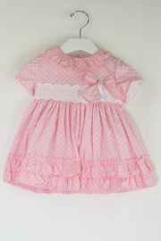Dolce Petit Pink Polkadots Dress - Front cropped