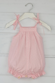 Granlei 1980 Pink Polkadots Romper - Front cropped