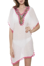 Patricia's Presents Pink Pompom Caftan - Product Mini Image