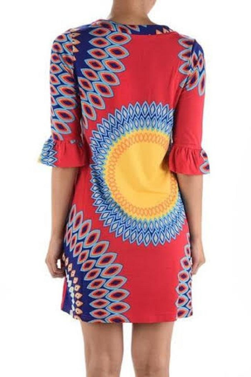 Aryeh Pink Printed Dress - Side Cropped Image