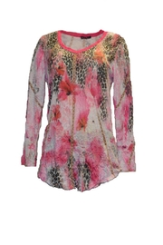 David Cline Pink Printed Top - Product Mini Image