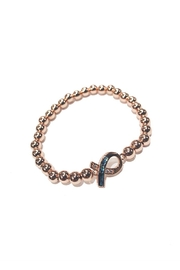 Lets Accessorize Pink-Ribbon Bead Bracelet - Product Mini Image