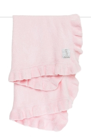 LITTLE GIRAFFE Pink Ruffle Blanket - Product Mini Image