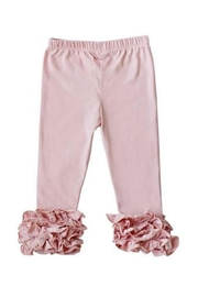 Bailey's Blossoms Pink Ruffle Leggings - Front cropped