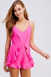 Do & Be Pink Ruffle Romper - Product Mini Image