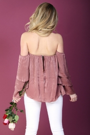 LLove USA Pink Ruffle-Sleeve Top - Other