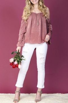 LLove USA Pink Ruffle-Sleeve Top - Product List Image