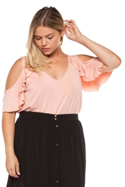 Dex Pink Ruffle Top - Product Mini Image