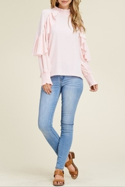 Solution Pink Ruffle Top - Product Mini Image