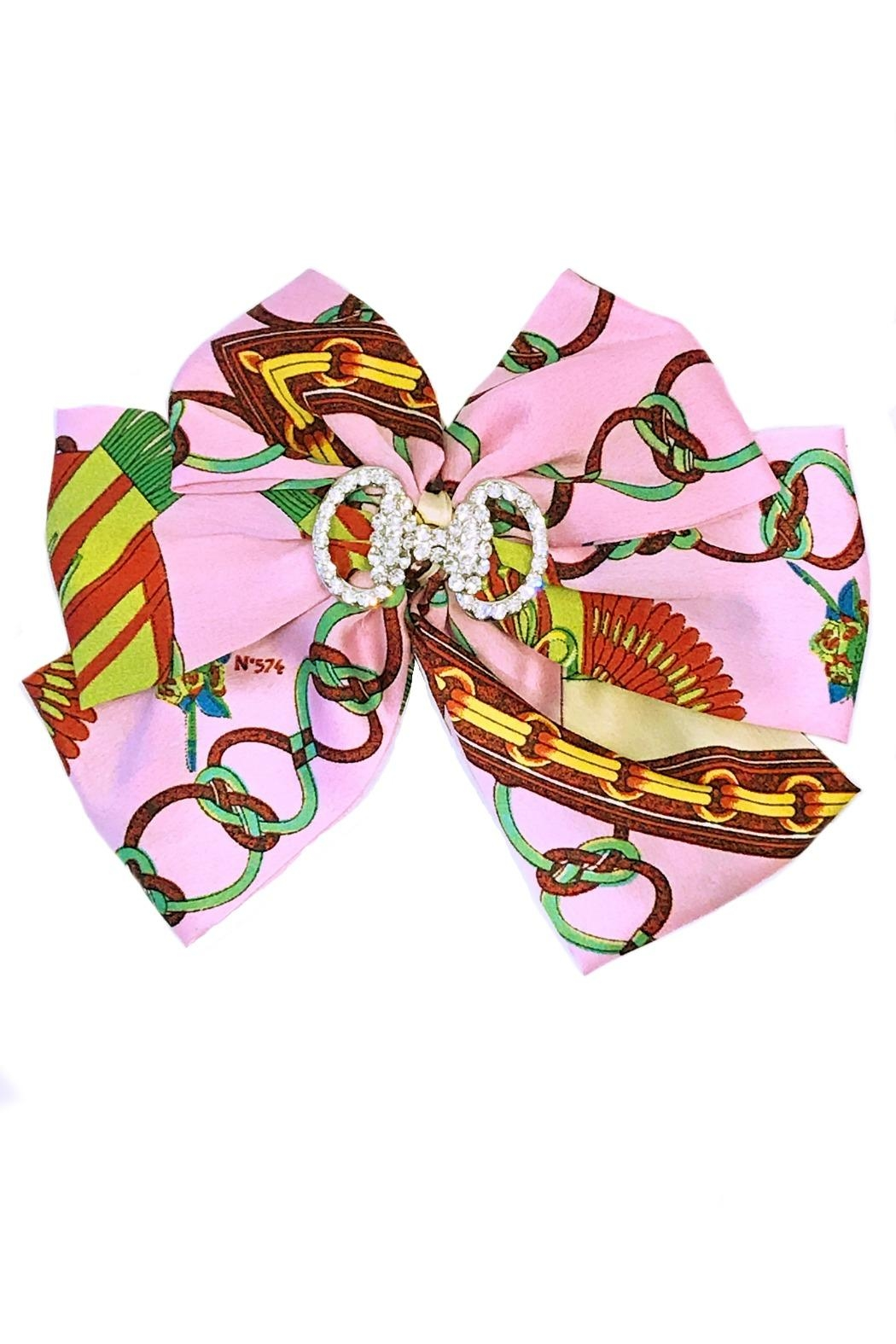 L'Imagine Pink Scarf Bow - Front Cropped Image