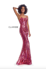 CLARISSE Pink Sequin Gown - Product Mini Image