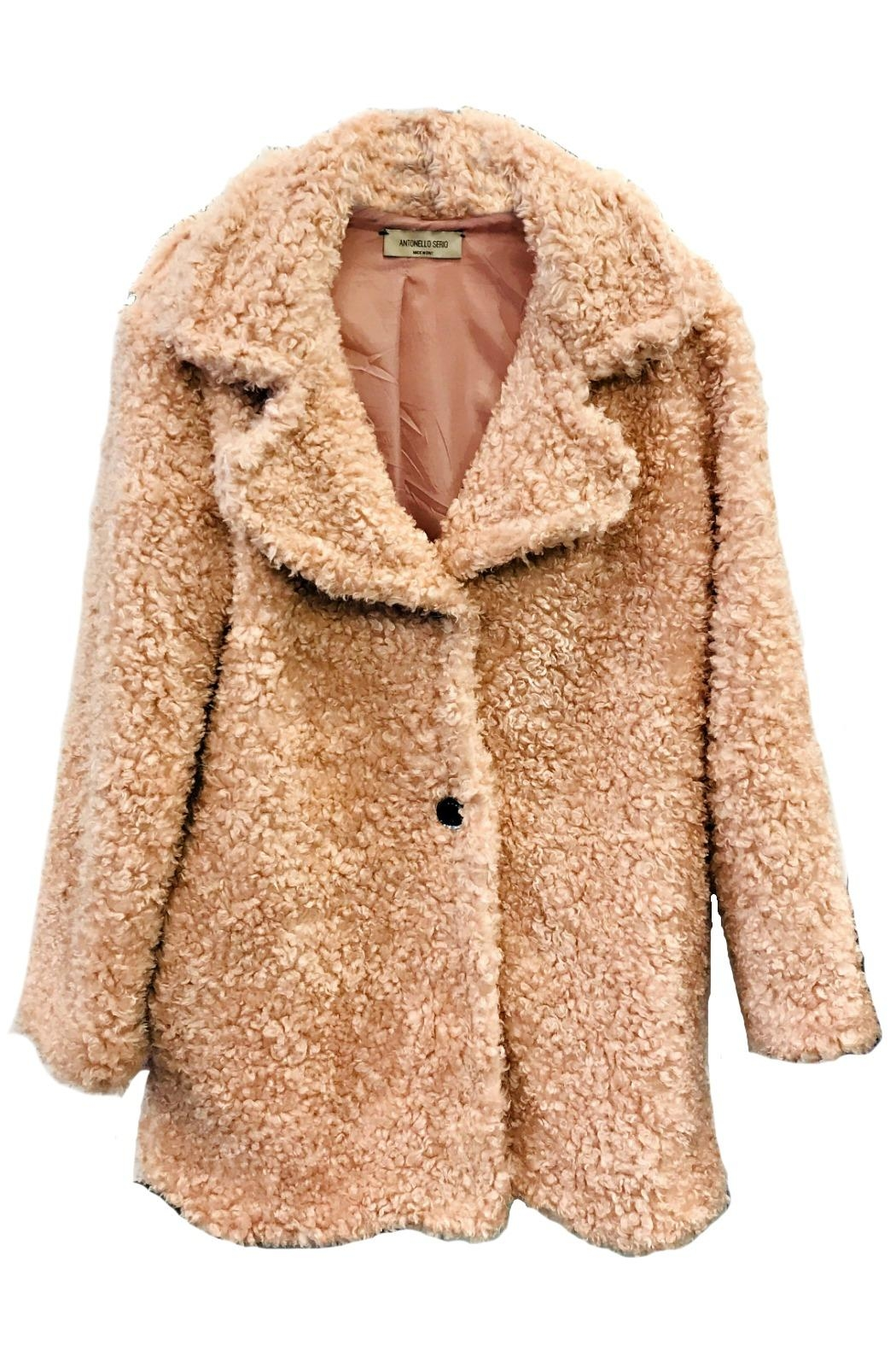 size 40 e64cc d364a ANTONELLO SERIO Pink Shaggy Coat from Portland by Moods of ...