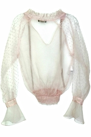 Maryley Pink Sheer Chiffon - Front full body