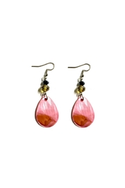 Love's Hangover Creations Pink Shell Earrings - Product Mini Image