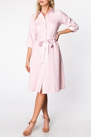 Compendium boutique Pink Shirt Dress - Product Mini Image
