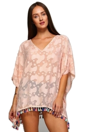 Dazzling Pink Silk Coverup - Product Mini Image