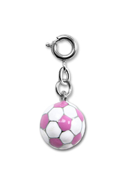 Charm It Pink Soccer Ball Charm - Front cropped