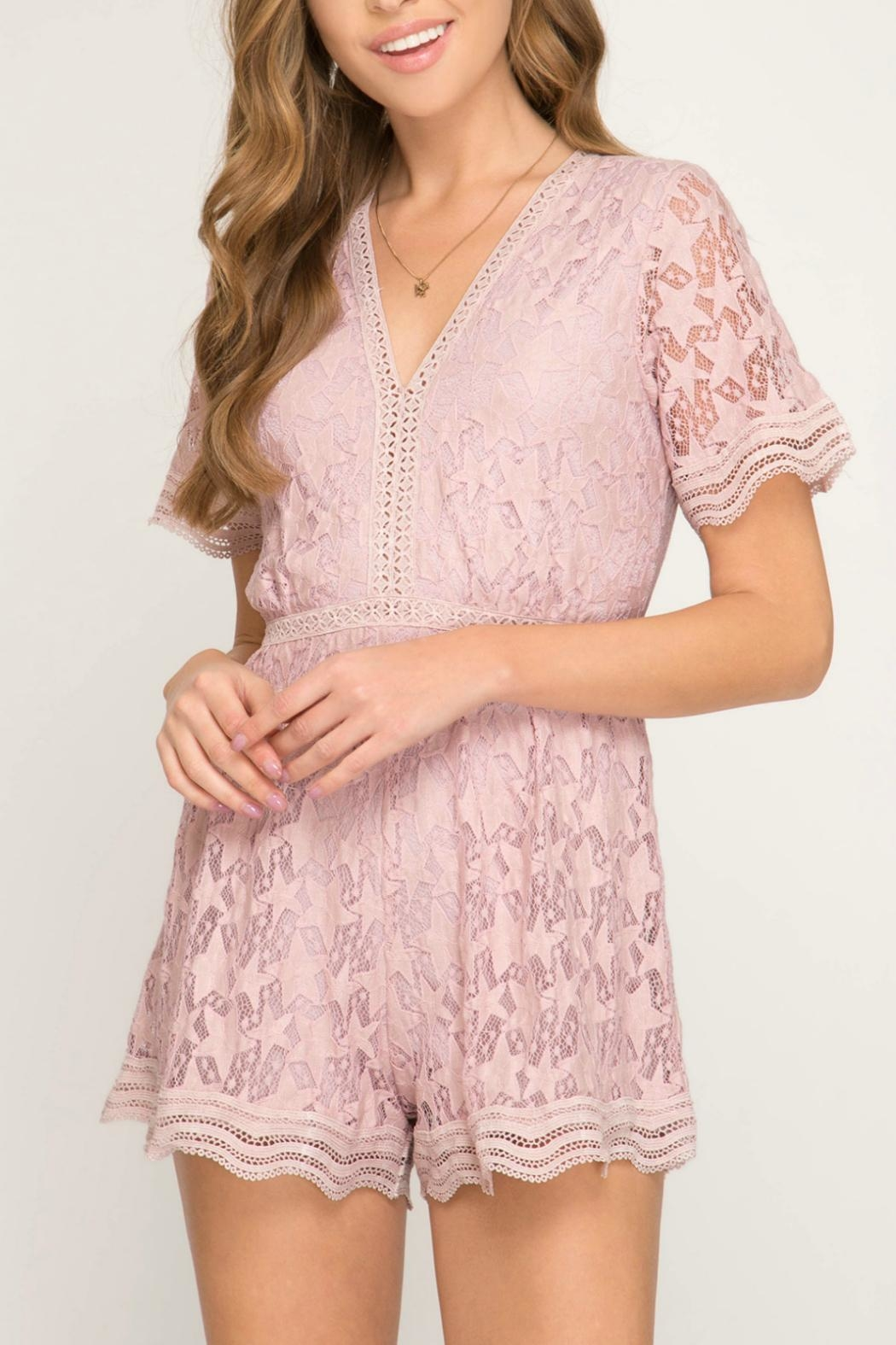 22dc31a6ab90 She + Sky Pink Star Romper from Alaska by Apricot Lane - Anchorage ...