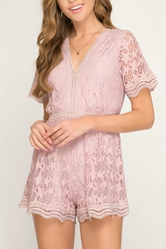 Shoptiques Product: Pink Star Romper