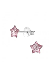 Silver Jewels Pink Star Silver Stud Earrings - Product Mini Image