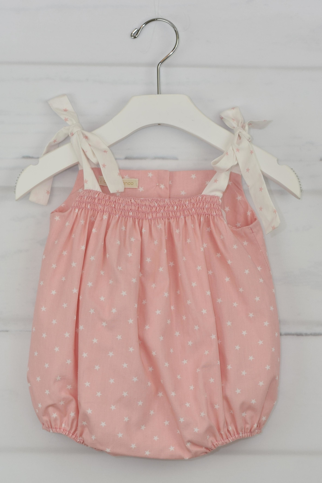 cesar blanco Pink Stars Onesie - Front Cropped Image