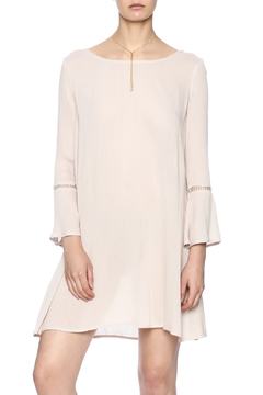 Pink Stitch Bell Sleeve Dress - Product List Image