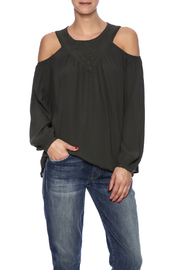 Pink Stitch Keyhole Top - Front cropped