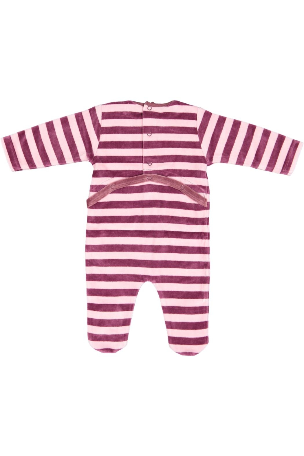 Pounds and Ounces Pink Stripe Stretchy - Front Full Image