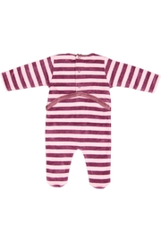 Pounds and Ounces Pink Stripe Stretchy - Front full body