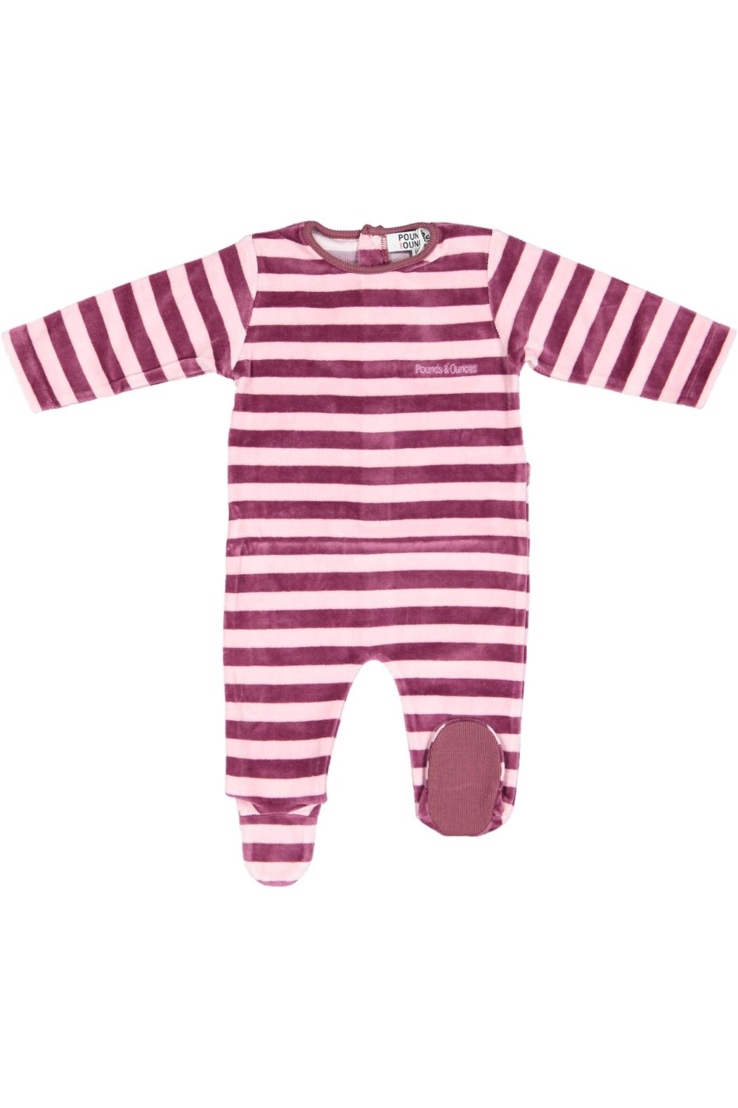 Pounds and Ounces Pink Stripe Stretchy - Main Image