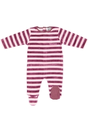 Pounds and Ounces Pink Stripe Stretchy - Front cropped