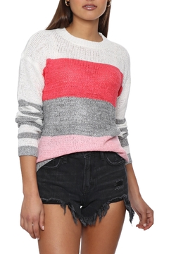 Shoptiques Product: Pink Stripe Sweater