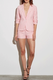 Amanda Uprichard Pink Striped Blazer - Product Mini Image