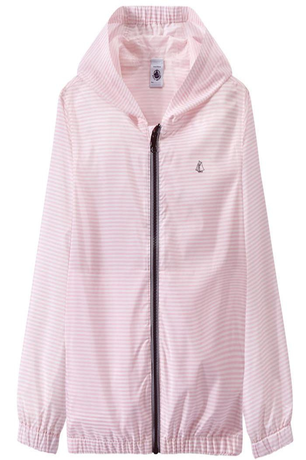 petit bateau Pink Striped Jacket - Main Image