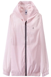 petit bateau Pink Striped Jacket - Front cropped