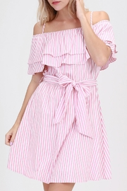ALB Anchorage Pink-Striped Ruffle Dress - Product Mini Image