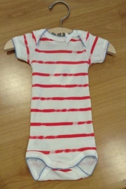 Petit Bateau Pink Striped Sleeper - Front cropped